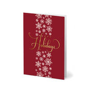 Red Happy Holiday Greeting card