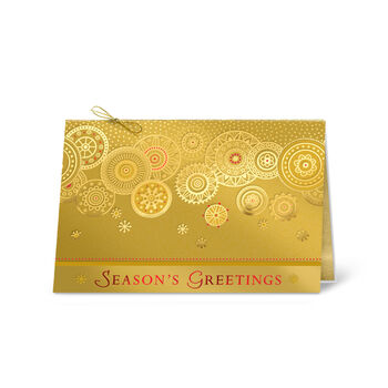 Golden Greetings Holiday Card