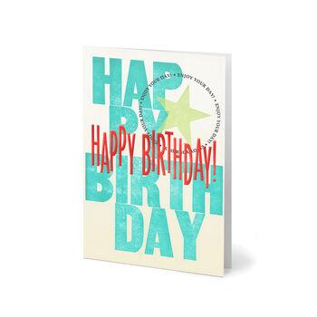 Bold Birthday Lettering
