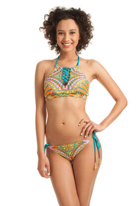 Capri High Neck Two Piece Bikini