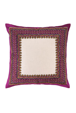 Terranea  Embroidered Pillow Purple
