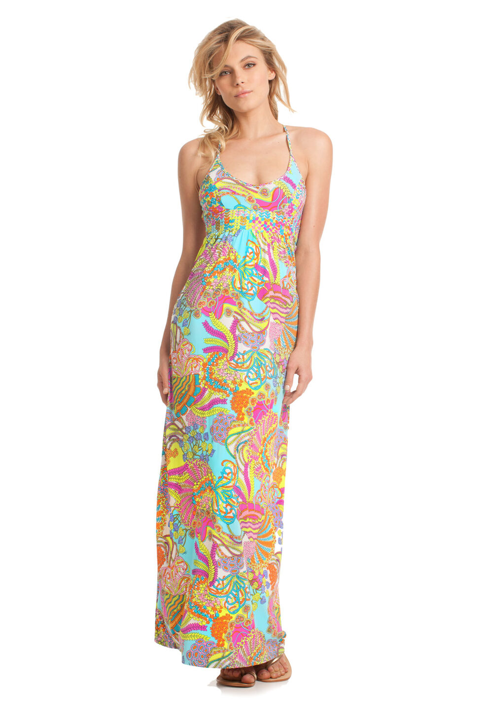 LONG DRESS CORAL REEF