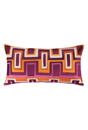 Ladera Embroidered Pillow Fuchsia