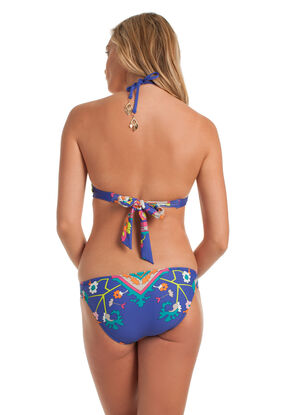 Tapestry High Neck Bra Bikini Set