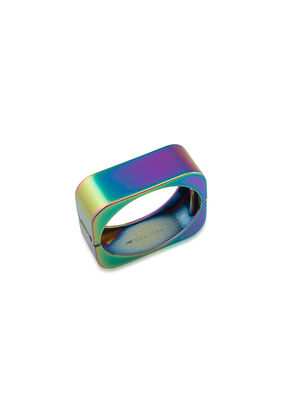 Coated Hematite Square Hinged Bangle