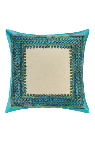 Terranea  Embroidered Pillow Blue