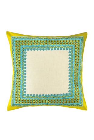 Terranea  Embroidered Pillow Yellow