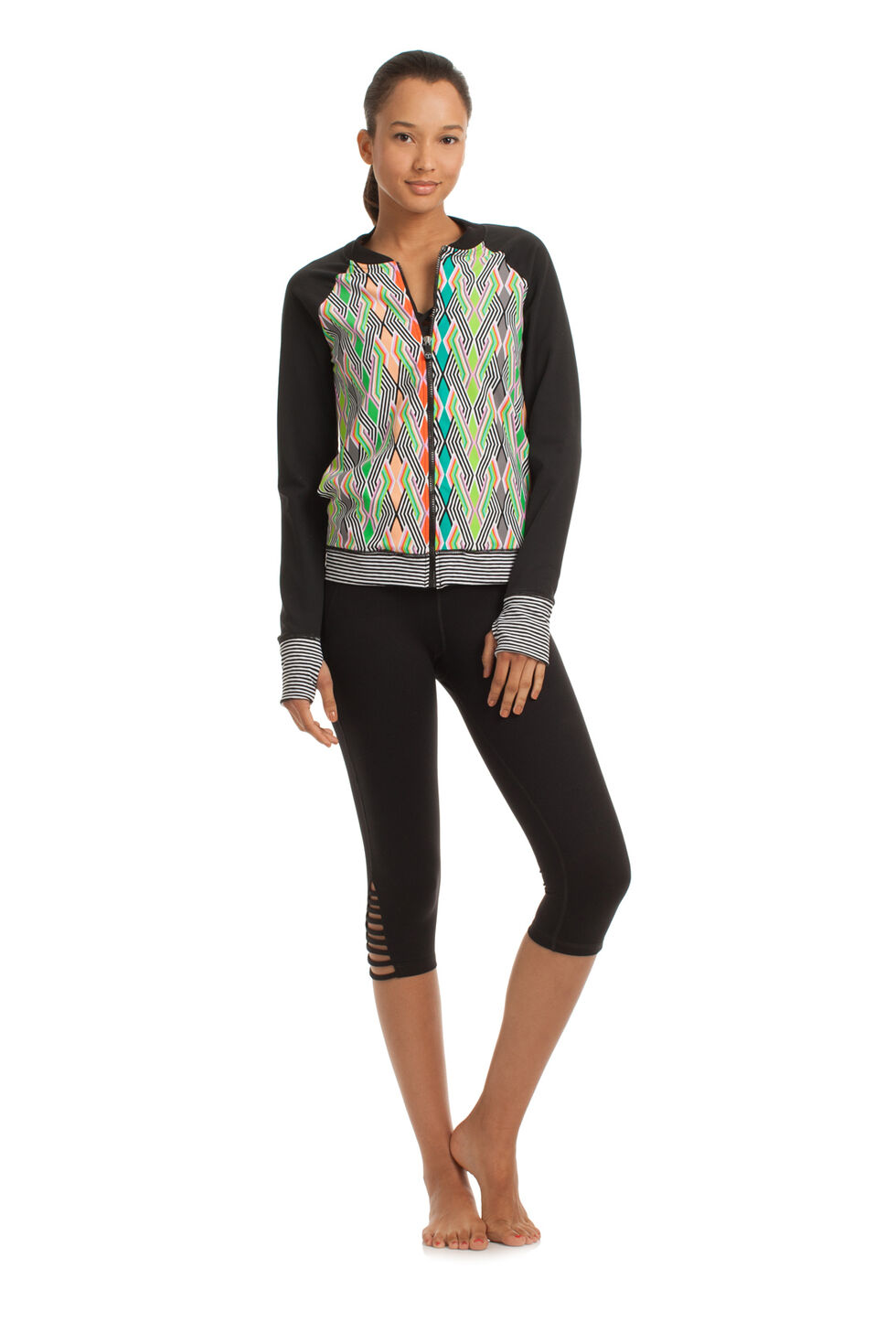 Neon Lights Bomber Jacket