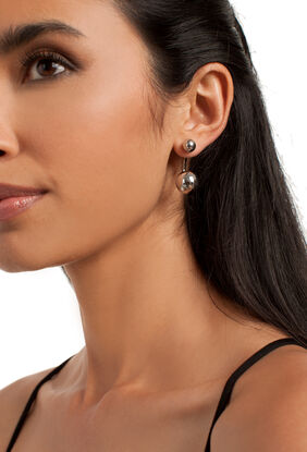 Double Ball Hoop Earring
