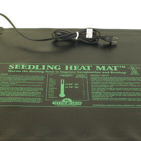 "Hydrofarm Seedling Heat Mat – 9"" x 19 1/2"", 17 Watts Seedling Heat Mats"