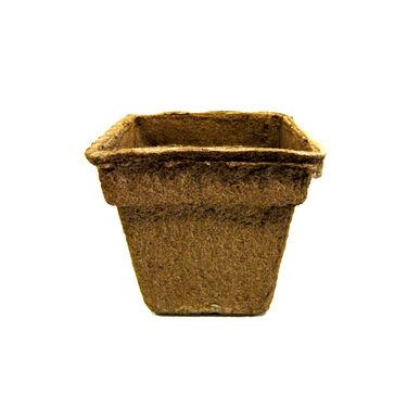 """7"""" Square CowPots™ – 90 Count Biodegradable Pots"""