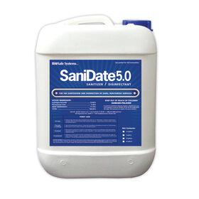 SaniDate®5.0液体洗手液- 2.5加仑。杀真菌剂