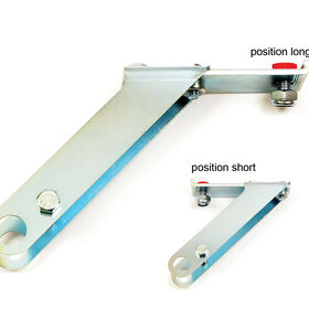 Dual-use Short/Long Mounting Bracket - for the Glaser Wheel Hoe
