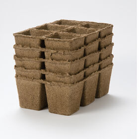 "3"" Six-Cell CowPots™ – 50 Count Biodegradable Pots"