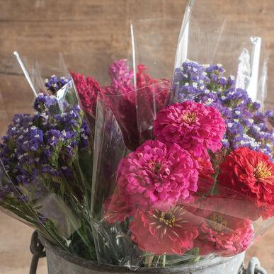 Clear Cut-Flower Sleeves – M, 50 Count Cut-Flower Supplies