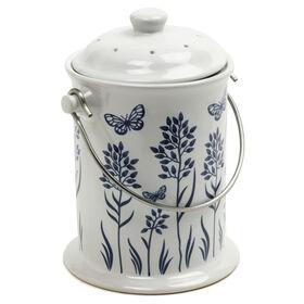 陶瓷花卉-3Qt。厨房用品