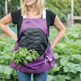 The Roo Apron® – Purple Orchid Harvesting Tools