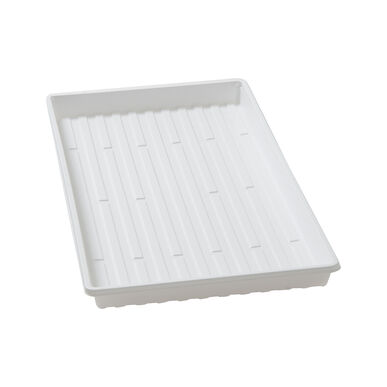 Shallow White Leakproof Trays - Case of 36