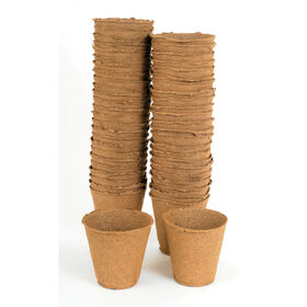 "4"" Round Fertil Pots – 50 Count Biodegradable Pots"