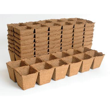 """Fertil Pots Square Strip 3-1/8"""" sq. x 3-1/8"""" h 12 cells - 8 Strips"""