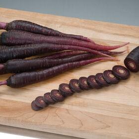 深紫色主要作物胡萝卜