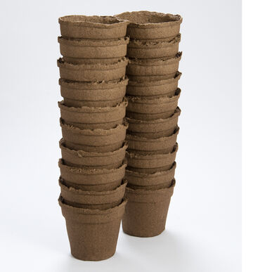 "5"" Round CowPots™ – 20 Count Biodegradable Pots"