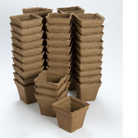 "5"" Square CowPots™ – 60 Count Biodegradable Pots"