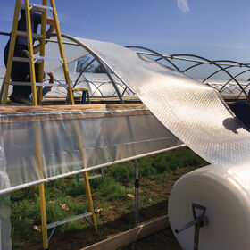 SolaWrap™ Extruded Channel - individual 10 ft. section Greenhouse Film