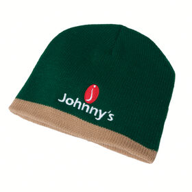 Johnny's Winter Beanie - Green with Khaki trim Clothing