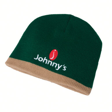 Johnny's Winter Beanie - Green with Khaki trim