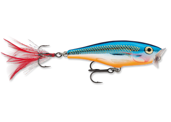 Rapala SP05SB (10-Pack) Skitter Pop 05 Silver Blue 266241-22