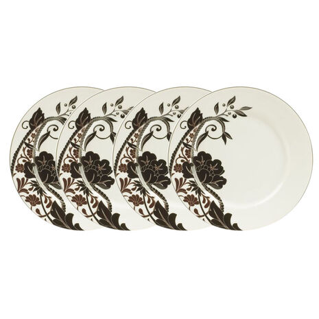 Set of 4 Rose Accent Plates