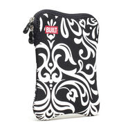 Damask Black and White E-Reader Tablet Sleeve 7-8 Inch