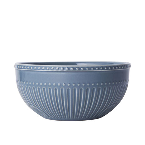 Fluted Blue Cereal Bowl