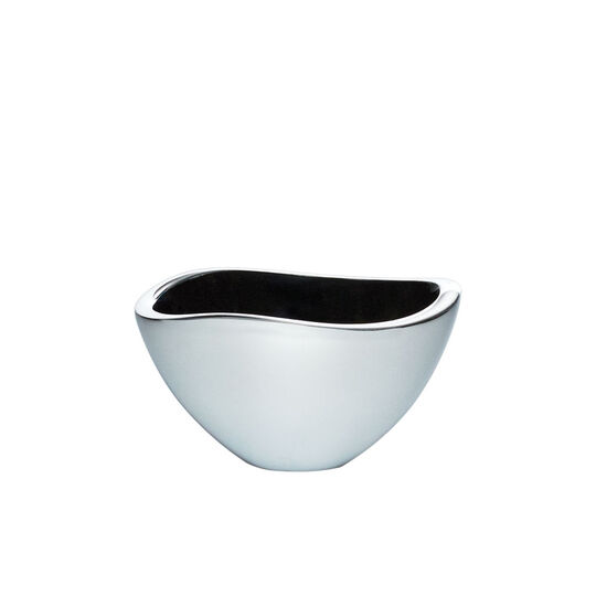 Alloy 5 Inch Bowl with Black Enamel Accent