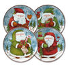 Set of 4 Santa Salad Plates