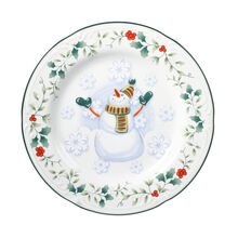 Snowman Salad Plate