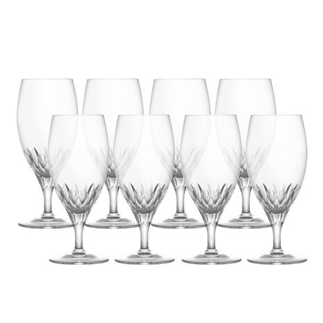 Crystal Iced Beverage Glasses, Set of 8