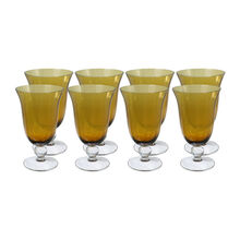 Set of 8 Amber All Purpose Glasses