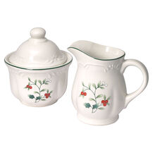 Sugar Bowl and Creamer Set