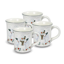 Set of 4 Snowman Mugs