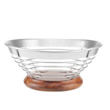 Wire And Wood Fruit Bowl