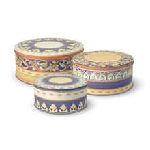 Set of 3 Round Nested Storage Tins
