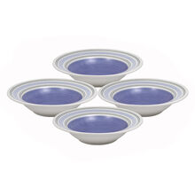 Set of 4 Wide Rim Soup Bowls