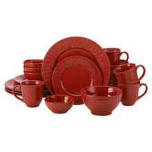 Red 20 Piece Dinnerware Set