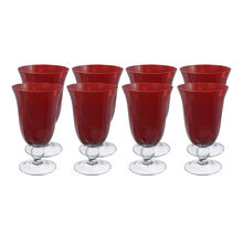 Set of 8 Red All Purpose Glasses