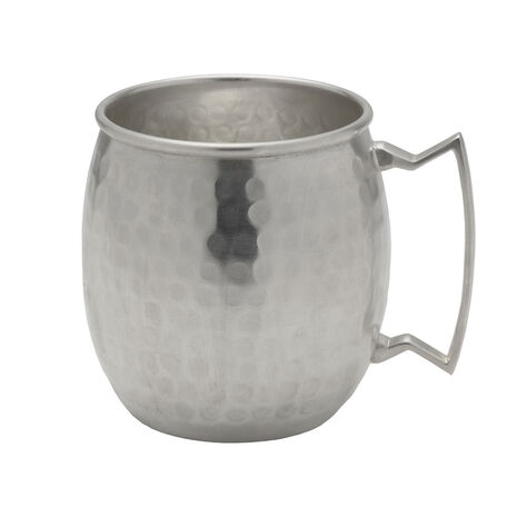 Silver Plated Hammered Moscow Mule Mug