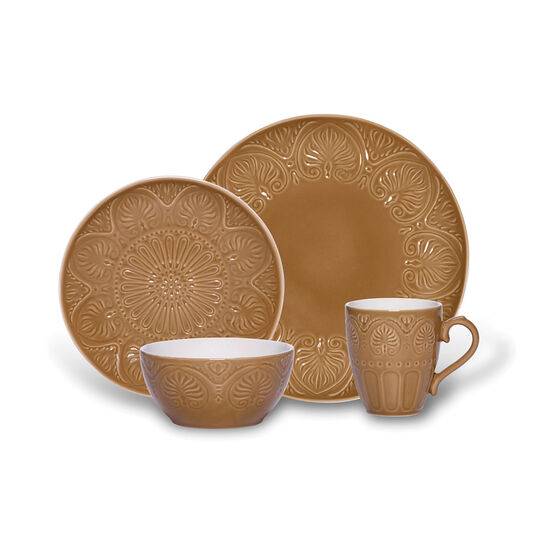 Latte 16 Piece Dinnerware Set