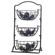 3 Tier Rooster Hanging Basket