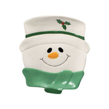 Snowman Figural Cookie Plate